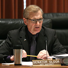 Image of Sen. Mike Gloor, chairperson of the Banking, Commerce and Insurance Committee.