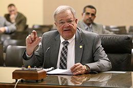 Hastings Sen. Les Seiler introduces LB158 to the Judiciary Committee Feb. 19.