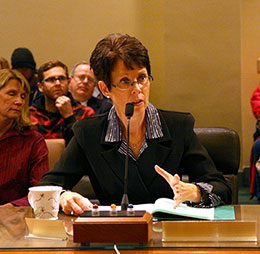 Sen. Dubas introduces LB1 to the Natural Resources Committee.