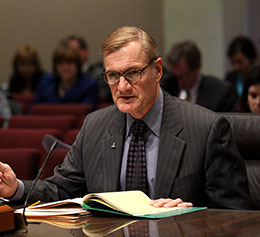 Grand Island Sen. Mike Gloor introduced two Medicaid proposals to the Health and Human Services Committee March 6.