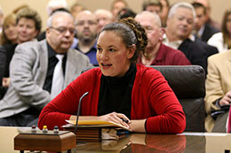 Lincoln Sen. Danielle Conrad introduces LB284 to the Judiciary Committee Feb. 13.