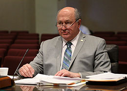 Omaha Sen. Rick Kolowski discusses LB630 during a hearing of the Health and Human Services Committee March 7.