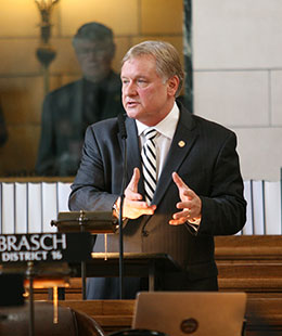 Omaha Sen. Bob Krist discusses LB6 during general file debate March 4.