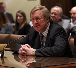 Sen. Paul Schumacher describes LB82 during a Revenue Committee hearing March 5.