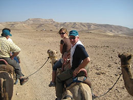 Sen. Watermeier enjoys a family trip to Jordan with daughter Rachel in 2009.