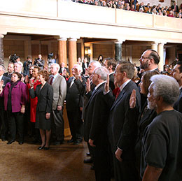 Eleven new senators were sworn in Jan. 9 during the first day of the 103rd Legislature.