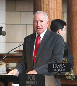 Image of Sen. Dan Watermeier said LB1022 would help determine which tax incentive programs should be extended.