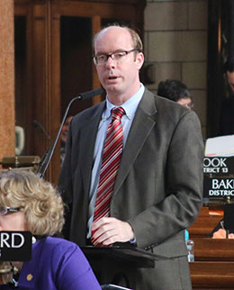 Image of Sen. Burke Harr said compensating employees for forfeited vacation leave is important to recognizing their loyal service.