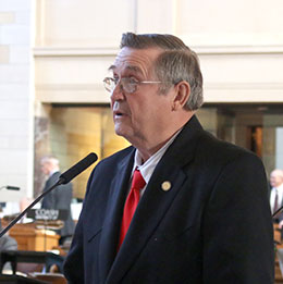 Image of Sen. Dave Bloomfield said adult motorcyclists should have the right to decide whether to wear a helmet in Nebraska.