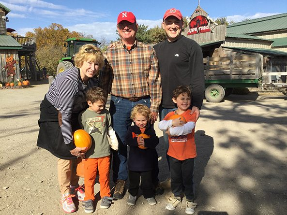 Senator Lou Ann Linehan with husband Kevin, son Patrick and grandsons Jack, Luke and Mitch.