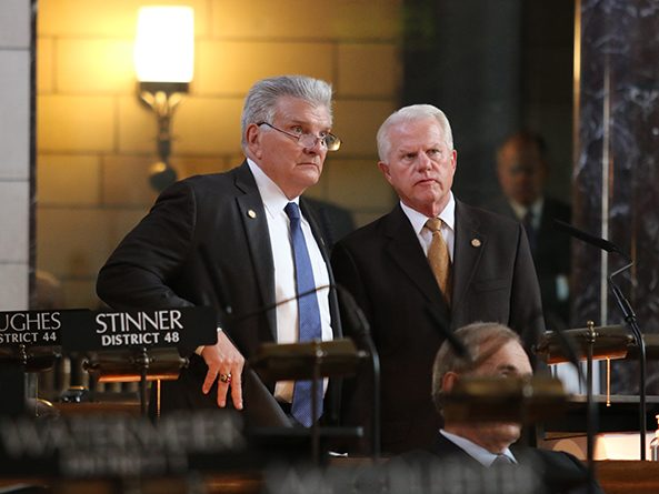 Sen. John Stinner and Sen. Matt Williams