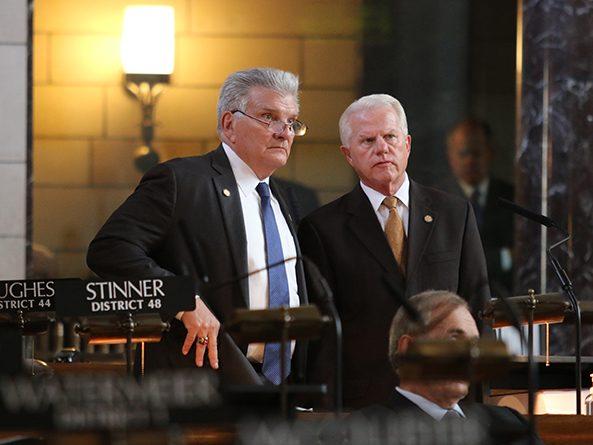 Sen. John Stinner and Sen. Matt Williams