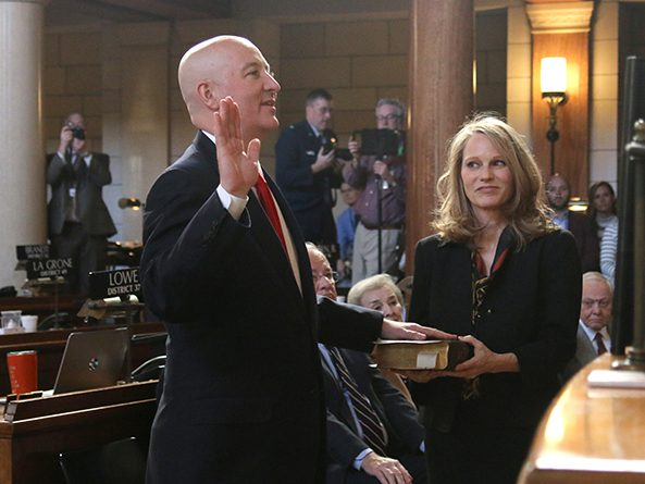Gov. Pete Ricketts and First Lady Susanne Shore