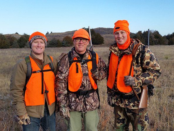 Sen. John Arch with his sons Cameron, left, and Nicholas, right, on a deer hunting trip near Valentine in 2017.