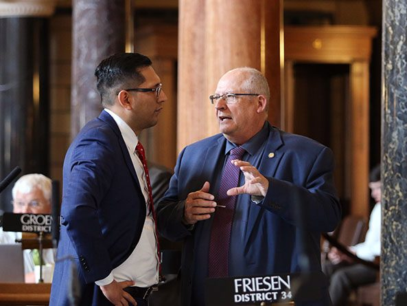 Sen. Tony Vargas and Sen. Curt Friesen