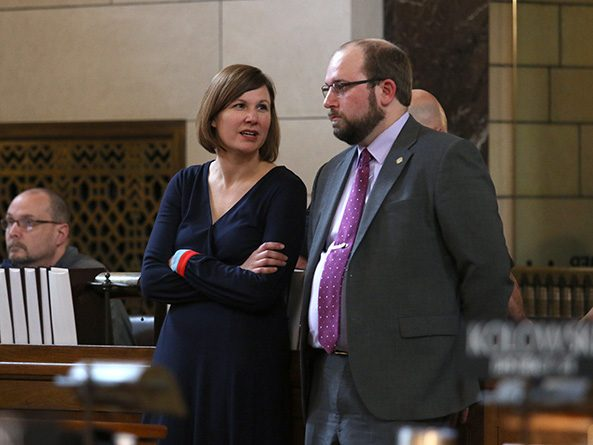Sens. Kate Bolz and Matt Hansen
