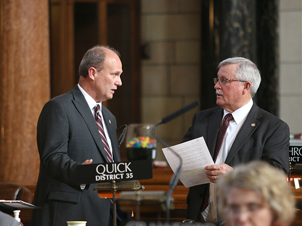 Sens. Dan Quick and Steve Erdman