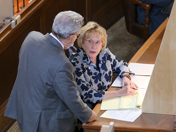 Sen. Jim Scheer and Sen. Lou Ann Linehan